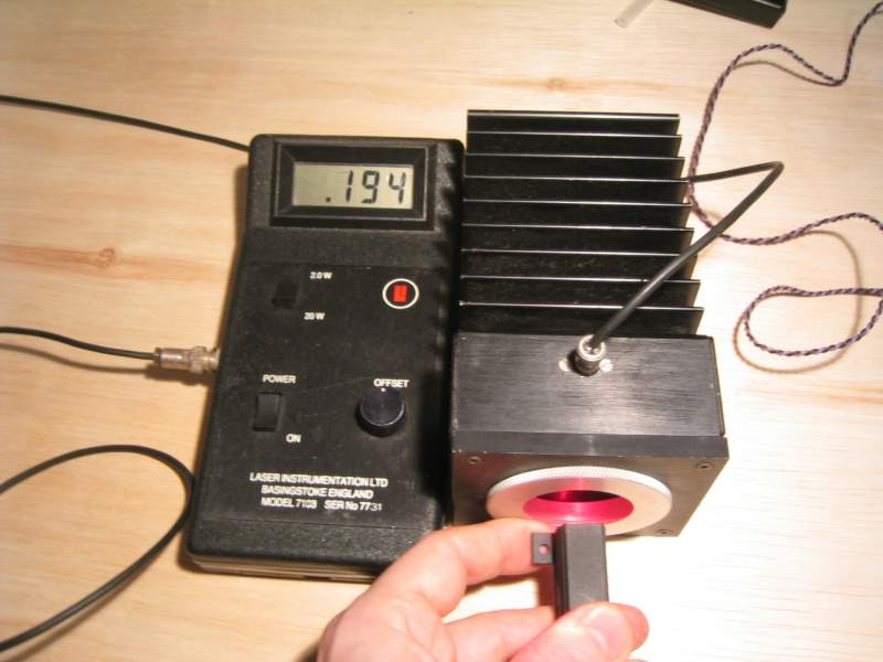 Laser Power Meter : D thing micro hotplate controller and laser power meter